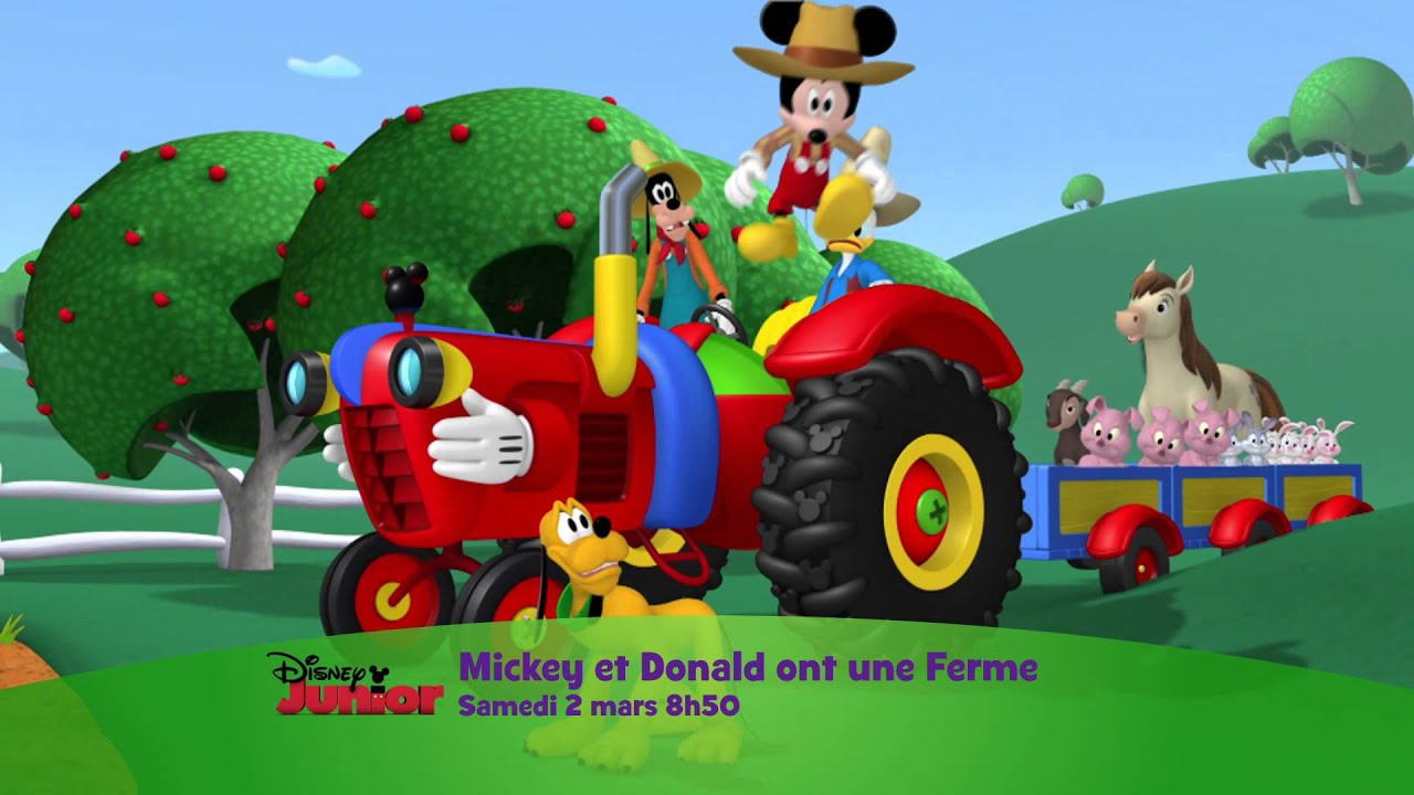 la maison de mickey mickey et donald ont une ferme le 2 mars 224 8h50 sur disney junior