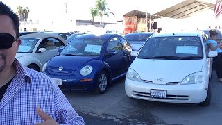 Autos super econimicos Auto auction of San Diego live
