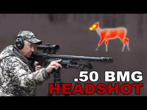 .50 BMG HEADSHOT On Deer!