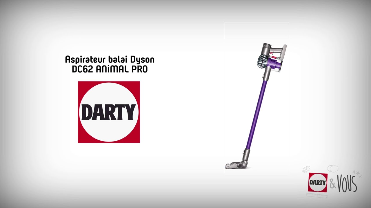aspirateur balai dyson dc62 animalpro d monstration darty youtube. Black Bedroom Furniture Sets. Home Design Ideas
