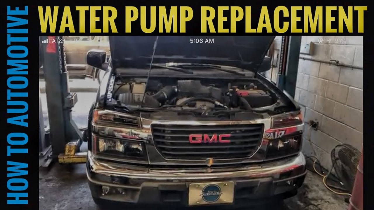how to replace the water pump on a 2003 2012 chevy colorado gmc rh youtube com 2008 Chevy Colorado Parts Diagram 2003 GMC Envoy Engine Diagram