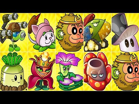 All Premium Plants Power-Up! (Chinese Version) in Plants vs. Zombies 2 Chinese: Gameplay 2017