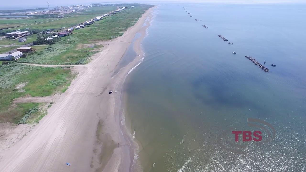 Grand Isle Louisiana Beach Side Aerial Survey Flown July 20 2017