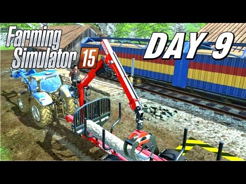 Let's Play Farming Simulator 2015 - Day 9 | Forestry Easter Egg