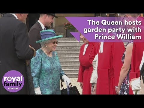 Queen hosts Buckingham Palace garden party alongside Prince William