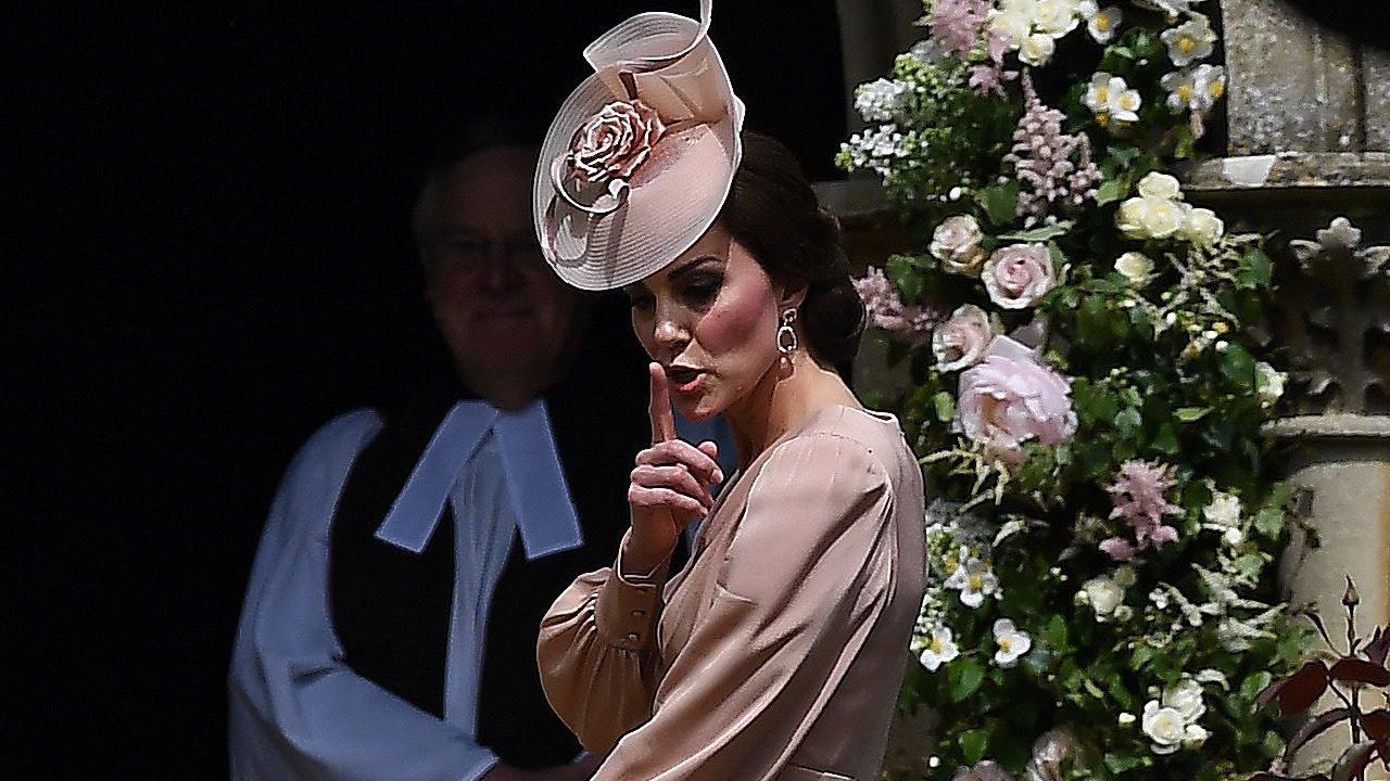 306660684f9 Kate Middleton Adorably Shushes Prince George   Princess Charlotte During  Pippa s Wedding