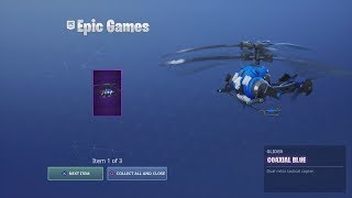 The New FREE Fortnite REWARDS! New Epic Helicopter Glider & MORE!! (NEW FREE FORTNITE PACK)