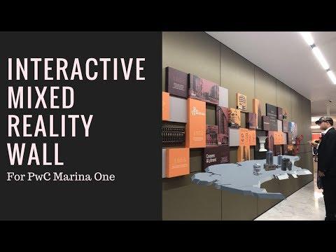 Helloholo Interactive Mixed Reality Wall!  HoloLens