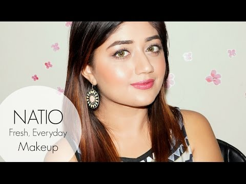 Fresh Everyday Makeup with NATIO | One Brand Tutorial | corallista