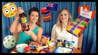 CRAZY New Zealand Junk Food Haul & Taste Test: Strange flavours and reactions!