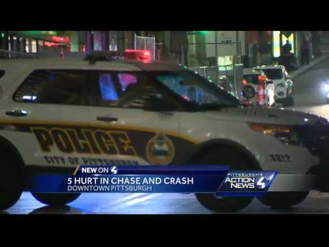 5 hurt in chase and crash into Capital Grille