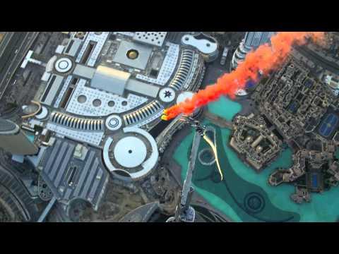 Прыжок с Бурдж Халифа Dubai самая высокая здания в мире - 4K