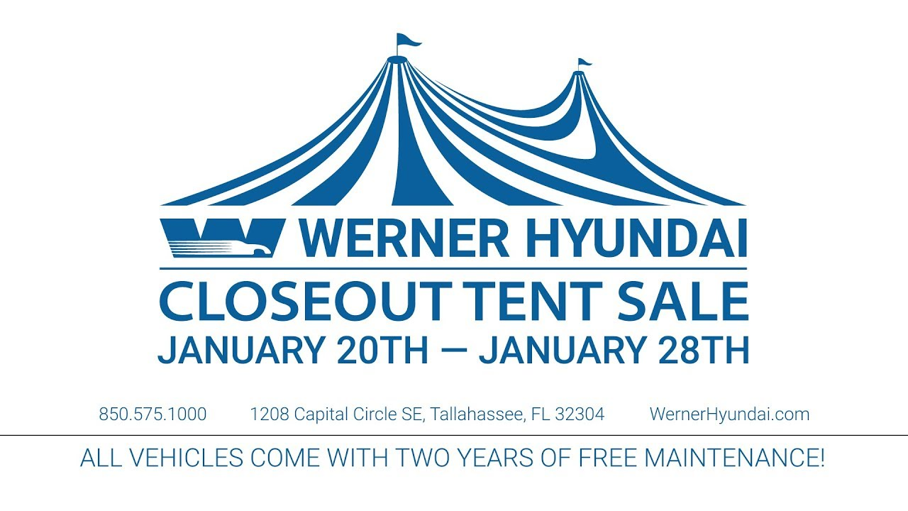 Werner Hyundai - January 2018 - Closeout Tent Sale  sc 1 st  YouTube & Werner Hyundai - January 2018 - Closeout Tent Sale - YouTube