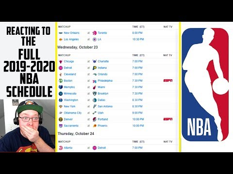 Reacting To The Full 2019-2020 NBA Season Schedule