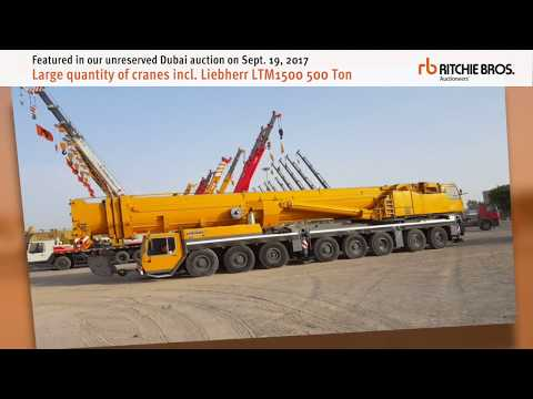 Liebherr LTM1500 and other cranes featured in Dubai auction - Sept 19, 2017