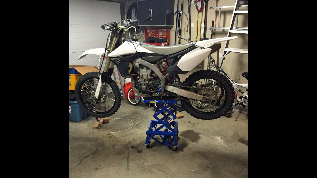 Review And Set Up Of Power Fist 300lb Dirt Bike Lift Youtube