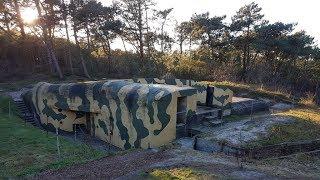Exploring bunkers on the island of Terschelling
