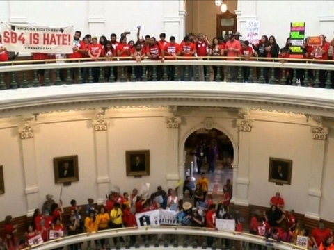 Pro-Immigration Protest Disrupts TX House