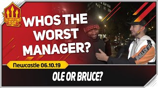 BRUCE OVER SOLSKJAER! Newcastle 1-0 Manchester United Opposition Fan Cam