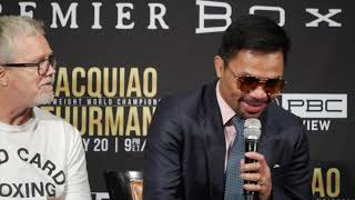 Pacquiao vs Thurman LA Presser Highlights