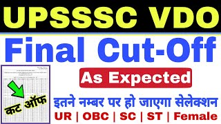 UPSSSC VDO Exam 2018 Final Cut Off as Expected | Study Channel
