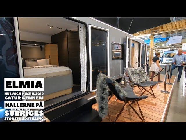 Elmia Husvagn Husbil 2019 - Gåtur gennem hallerne