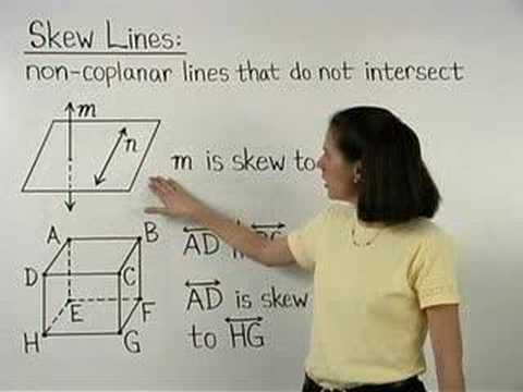 Skew Lines Mathhelpcom Geometry Help Youtube