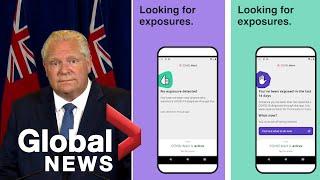 Coronavirus: Ontario Premier, Treasury Board President Discuss How Covid Alert App Works