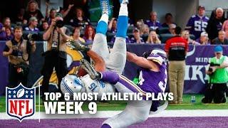 Top 5 Most Athletic Plays (Week 9) | NFL Now