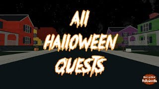 Roblox Guides (Special) - Trick or Treat in Hallowsville | All Halloween Quests (new Outro)