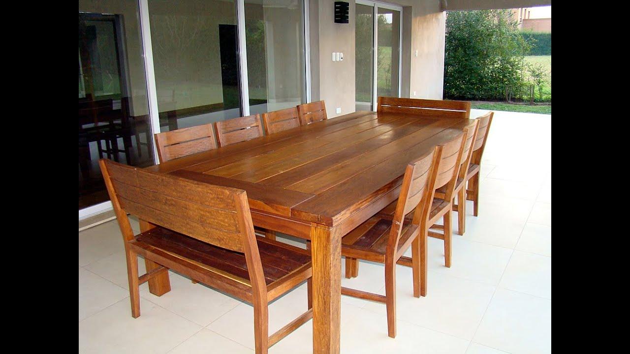 Comedores de madera del muebles de madera for Fotos de comedores de madera