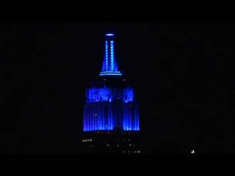 New York, New York - Empire State Building changes colors for Independence Day HD (2013)