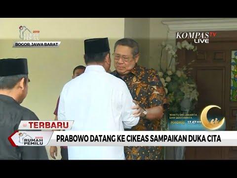 Prabowo Subianto Temui SBY untuk Sampaikan Duka Cita