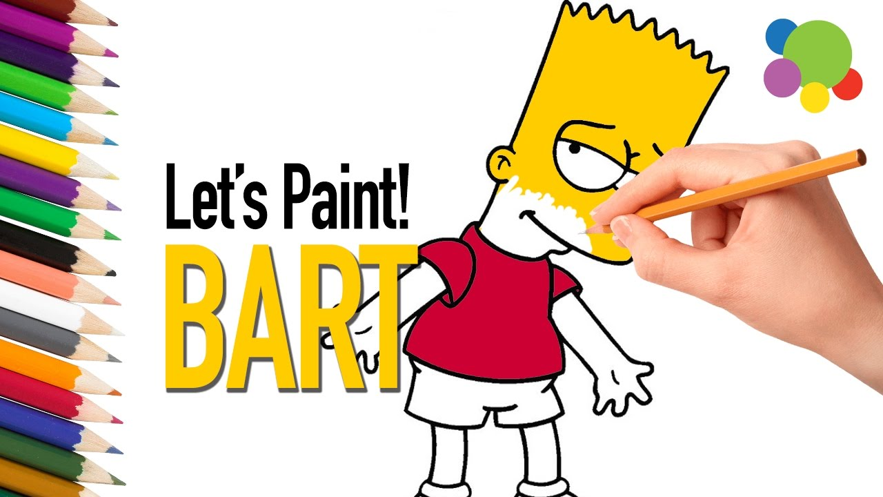bart simpson coloring pages  easy on colors  coloring
