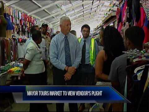 Port Of Spain Mayor Tours City Market