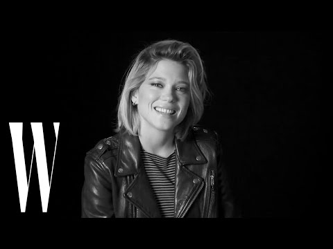 Lea Seydoux on Blue is the Warmest Color, Love s, and Marlon Brando  Screen Tests  W magazine