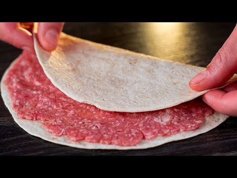 farcissez-un-pain-pita-de-viande-hachée,-le-résultat-va-vous-surprendre-!-|-savoureux.tv