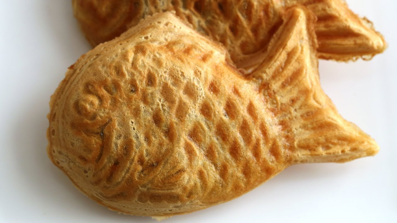 Korean Fish Shaped Bread With Red Bean Filling