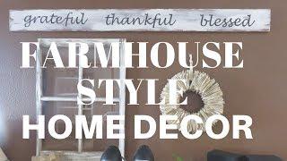 FARMHOUSE STYLE HOME DECOR  DIY   SPRING 2018   SISTERS HOUSE