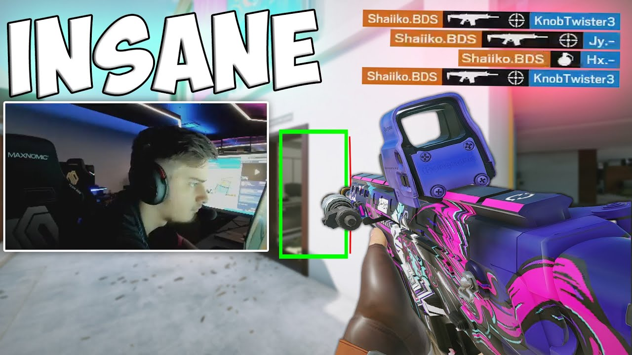 Shaiiko Using His HUMAN AIMBOT! Rainbow Six: Siege