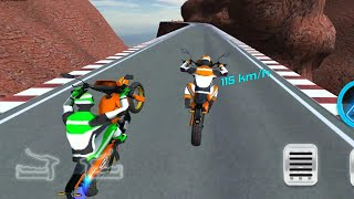 Racing On Bike Free Gameplay - Bike Racing 2019 - Best Bike Stunt Game 3D -  Bike Game