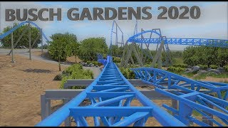 Busch Gardens 2020 Roller Coaster Animated POV | Williamsburg, Virginia | NoLimits