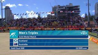 CG2018 Lawn Bowls - Mens Triples Final - Scotland vs Australia