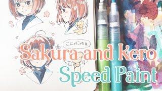 Sakura and Kero Speed Paint