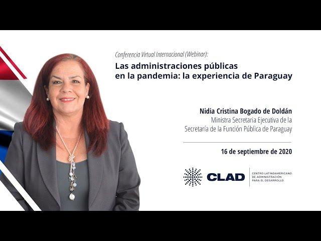 #WebinarCLAD Las administraciones públicas en la pandemia: la experiencia de Paraguay