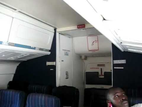East African Safari Air Express DC-9-14 5Y-XXA Engine Start - Window & Cabin View