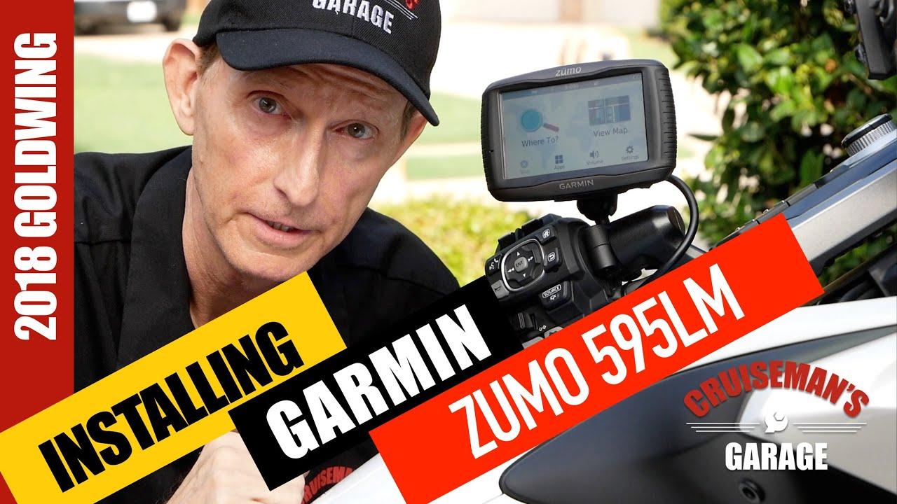 install garmin zumo 595 lm on 2018 honda goldwing