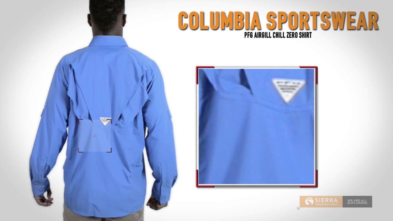 54970deacc6 Columbia Sportswear PFG Airgill Chill Zero Shirt - UPF 50, Long Sleeve (For  Men) - YouTube