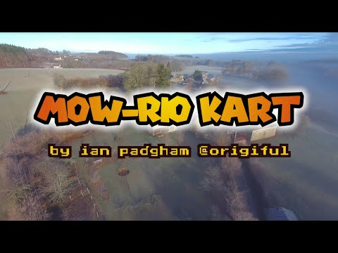 Mow-Rio Kart | How to play Mario Kart with a lawn mower & drone