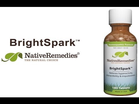Native Remedies BrightSpark - Natural Remedy for ADHD to Reduce Hyperactivity